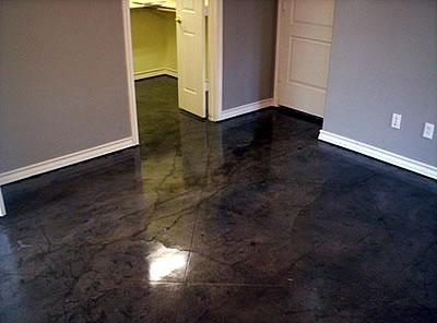 Black Acid Stained Concrete